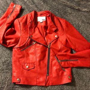 Bar III Faux Leather Utility Jacket *NWOT*